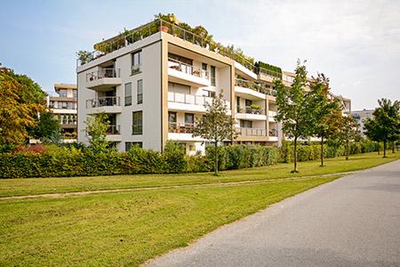 engazonnement residence Rennes chaudet paysage