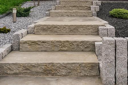 escalier pierre paysagiste chaudet rennes